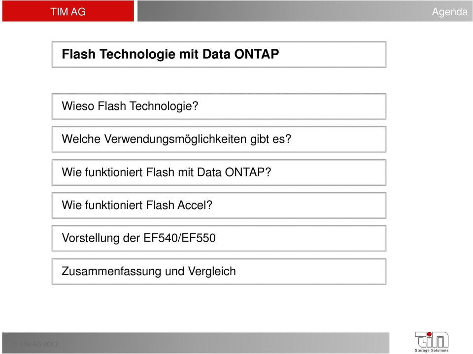 Wie funktioniert Flash mit Data ONTAP?