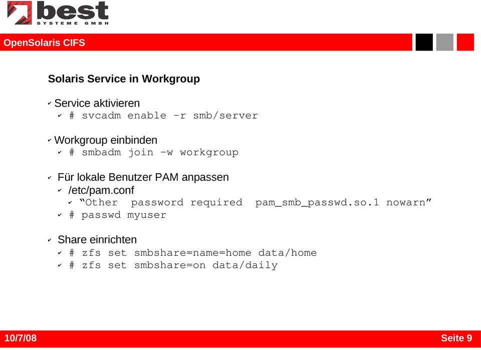 /etc/pam.conf Other password required pam_smb_passwd.so.