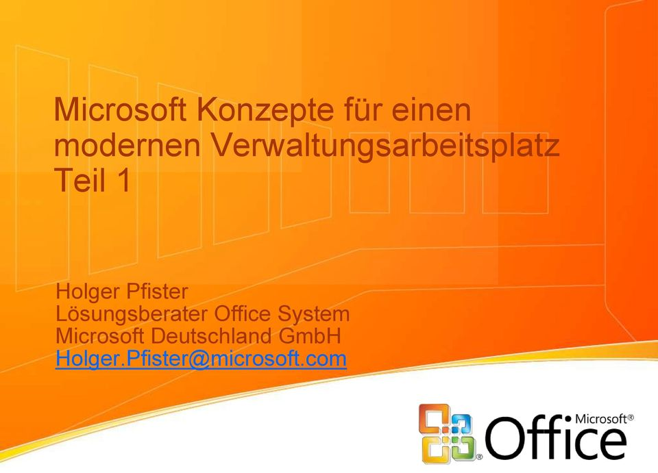 Pfister Lösungsberater Office System
