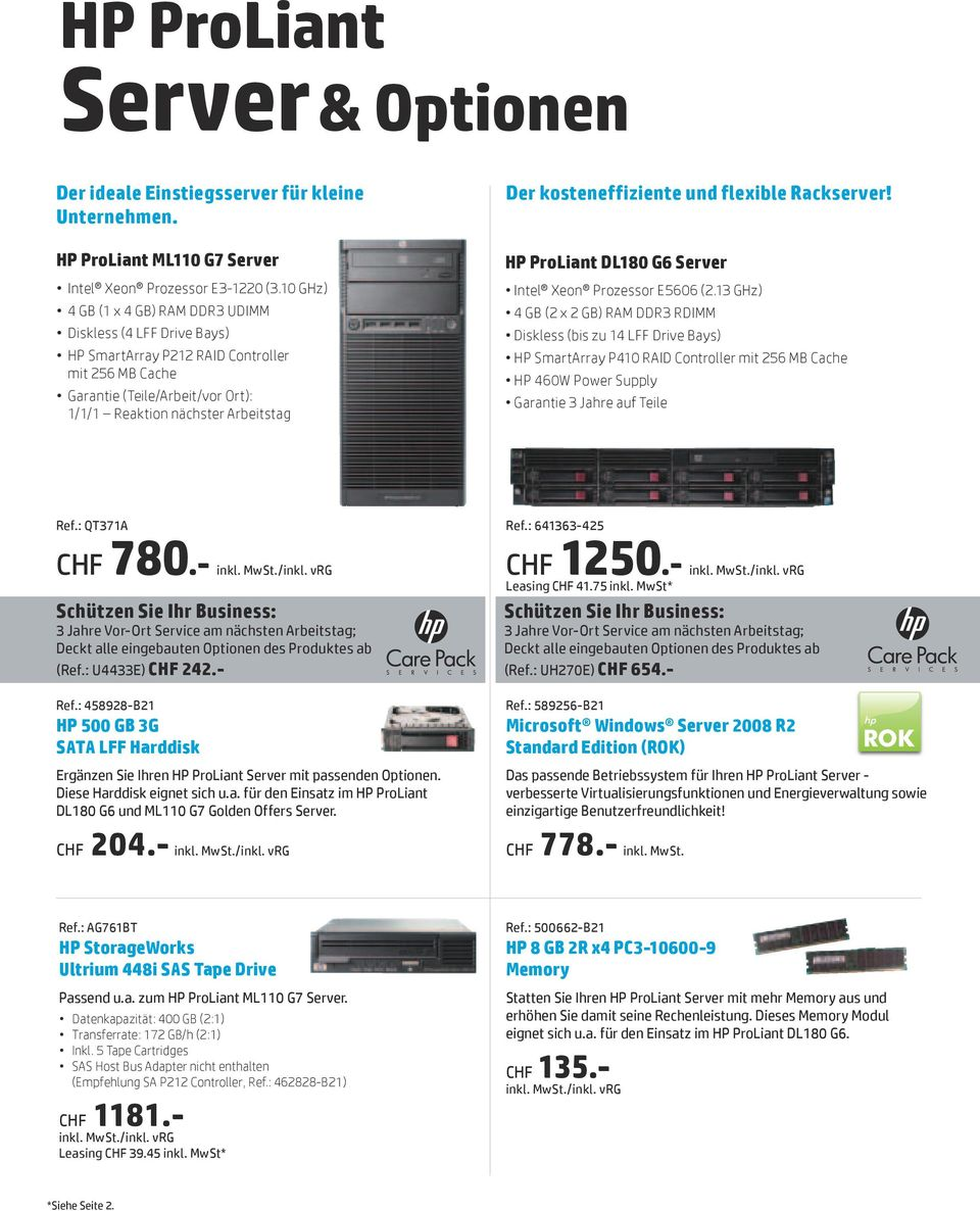 kosteneffiziente und flexible Rackserver! HP ProLiant DL180 G6 Server Intel Xeon Prozessor E5606 (2.