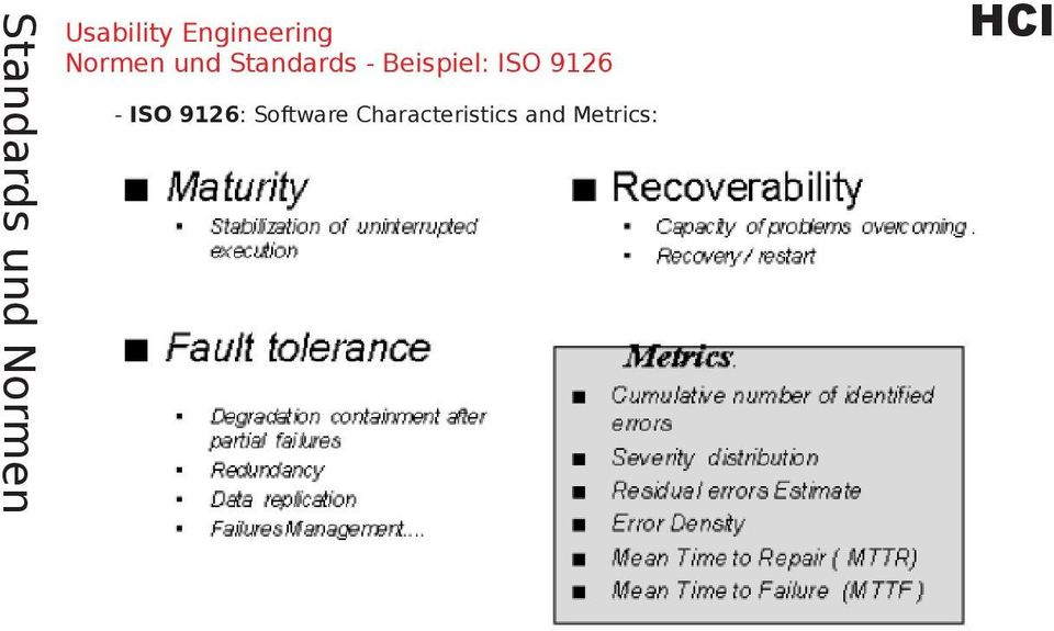 ISO 9126: Software