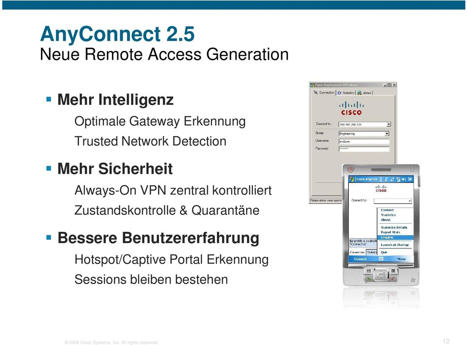 Trusted Network Detection Mehr Sicherheit Always-On VPN zentral kontrolliert