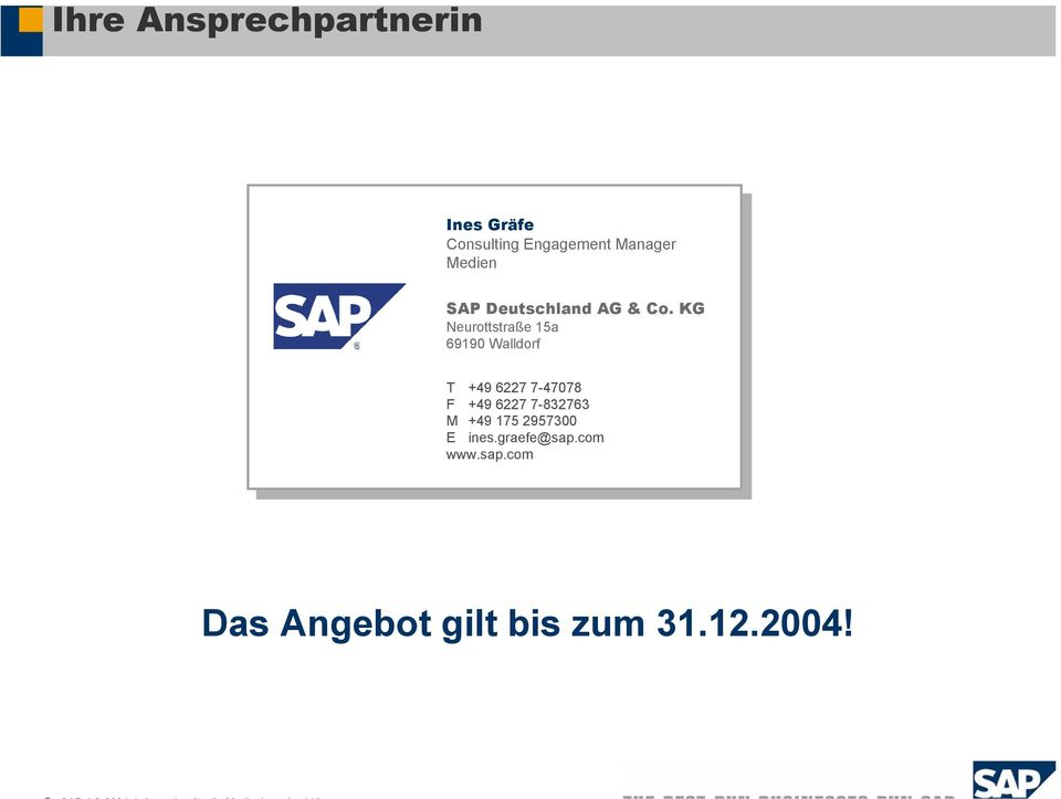 sulting SAP SAP Deutschland AG AG & & Co.