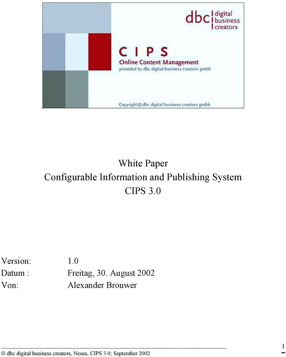 CIPS 3.0 Version: 1.