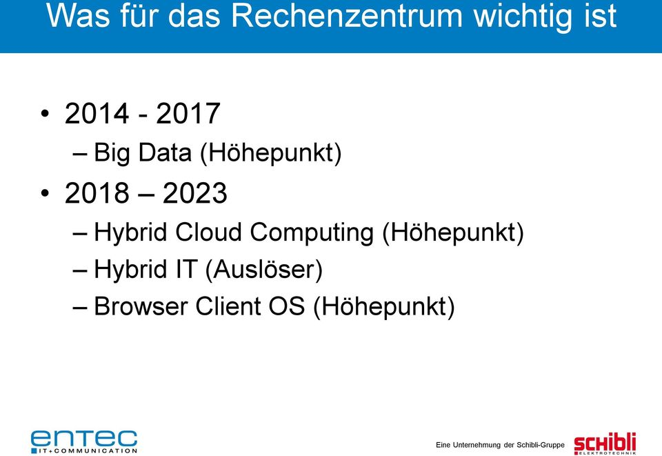 Hybrid Cloud Computing (Höhepunkt)