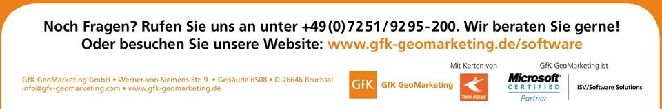 de/software 16 GfK GeoMarketing GmbH Werner-von-Siemens-Str.
