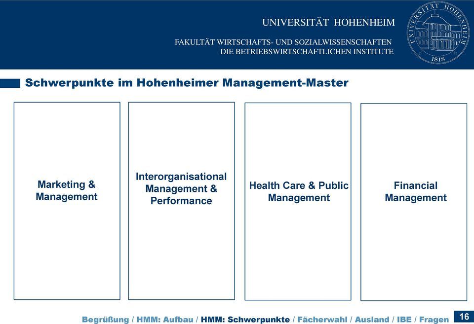Care & Public Management Financial Management Begrüßung / HMM: