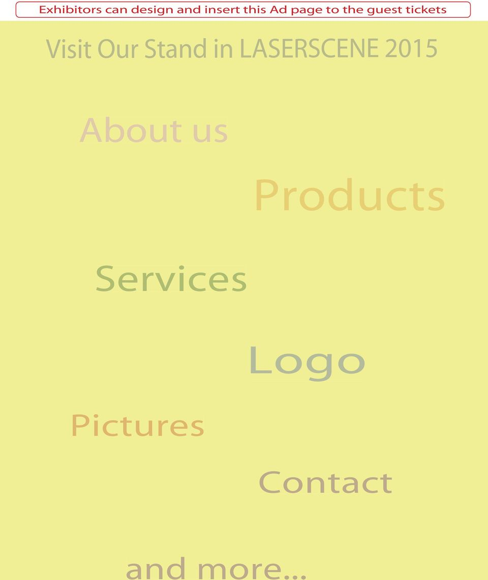 Stand in LASERSCENE 2015 About us