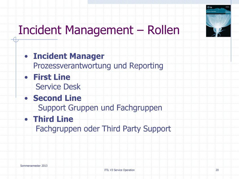 Desk Second Line Support Gruppen und Fachgruppen Third