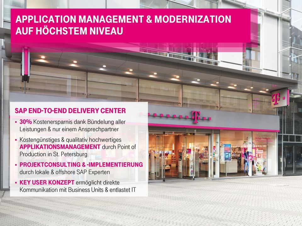 hochwertiges Applikationsmanagement durch Point of Production in St.