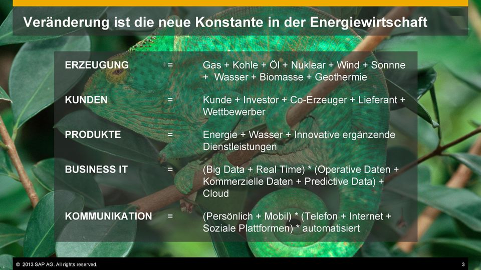 ergänzende Dienstleistungen BUSINESS IT = (Big Data + Real Time) * (Operative Daten + Kommerzielle Daten + Predictive Data) +