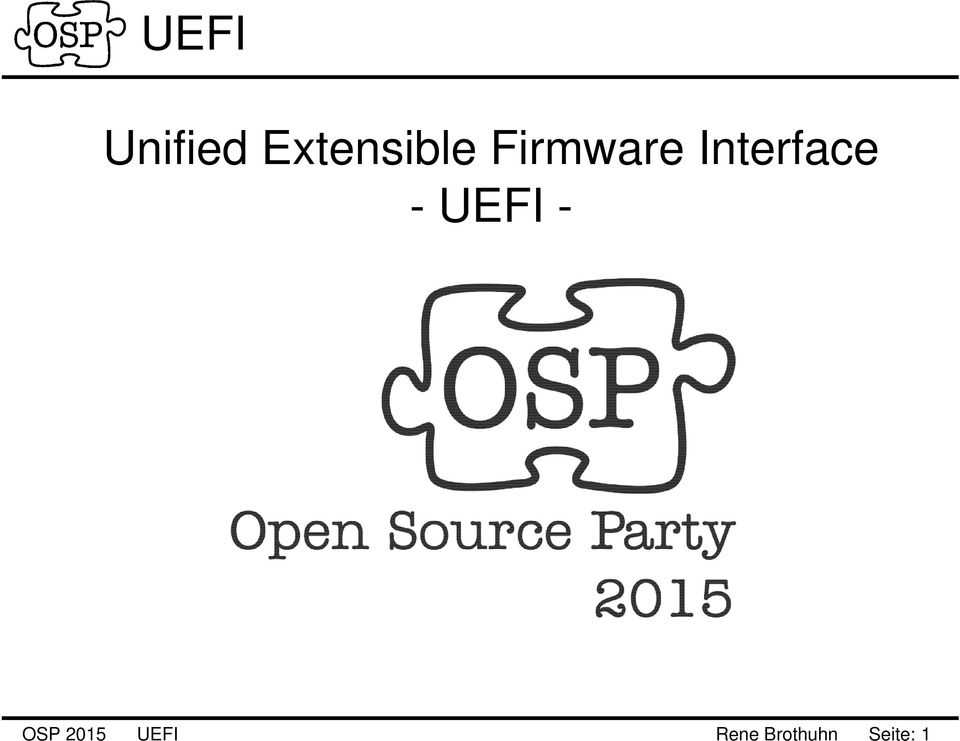 Interface UEFI OSP