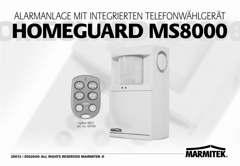 HOMEGUARD MS8000 option KR21 art. no.