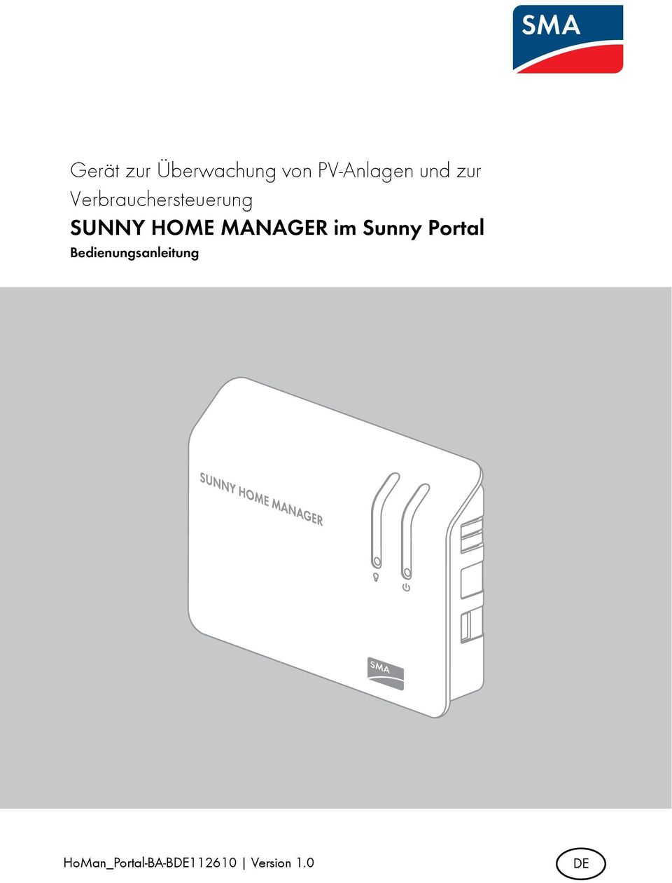 MANAGER im Sunny Portal