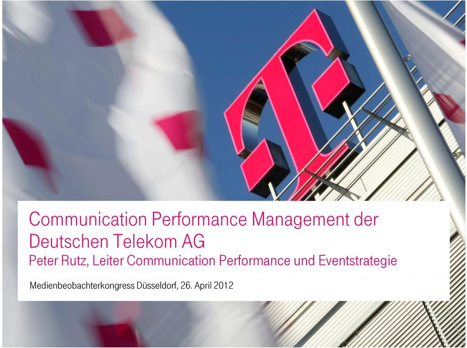 Communication Performance und Eventstrategie
