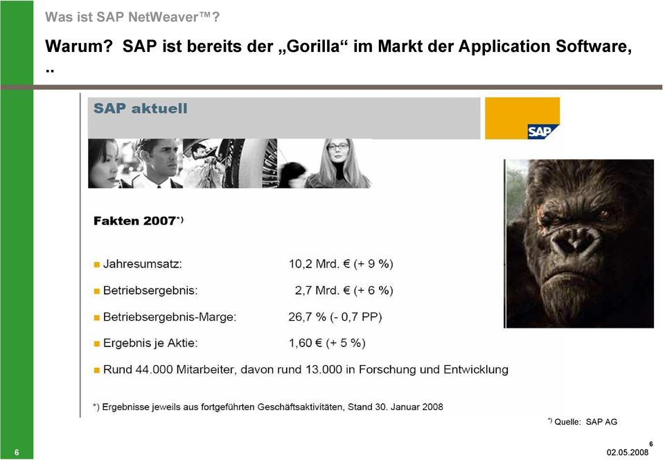 Markt der Application Software,.