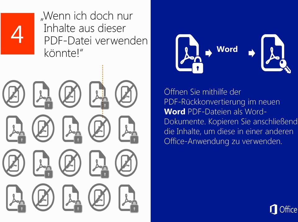 Word PDF-Dateien als Word- Dokumente.