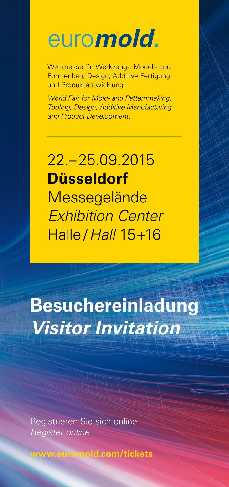 World Fair for Mold- and Patternmaking, Tooling, Design, Additive Manufacturing and Product