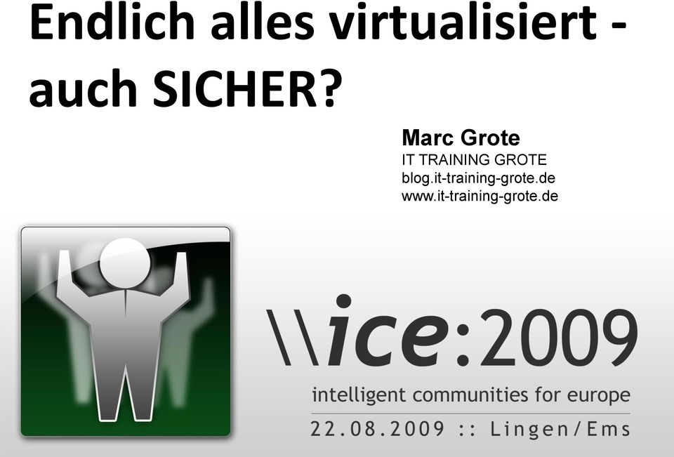 Marc Grote IT TRAINING GROTE