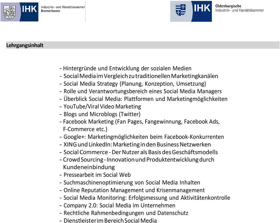 Marketing (Fan Pages, Fangewinnung, Facebook Ads, F-Commerce etc.