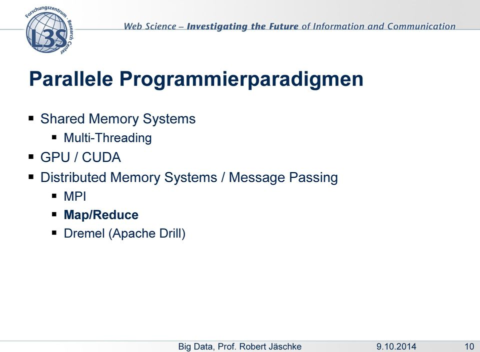 Distributed Memory Systems / Message