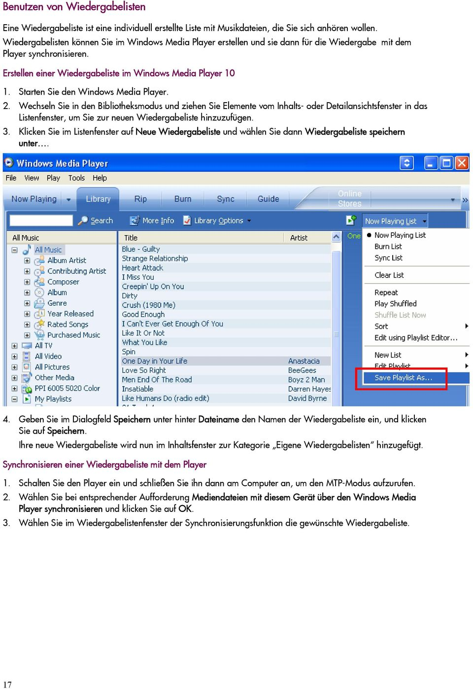 Starten Sie den Windows Media Player. 2.