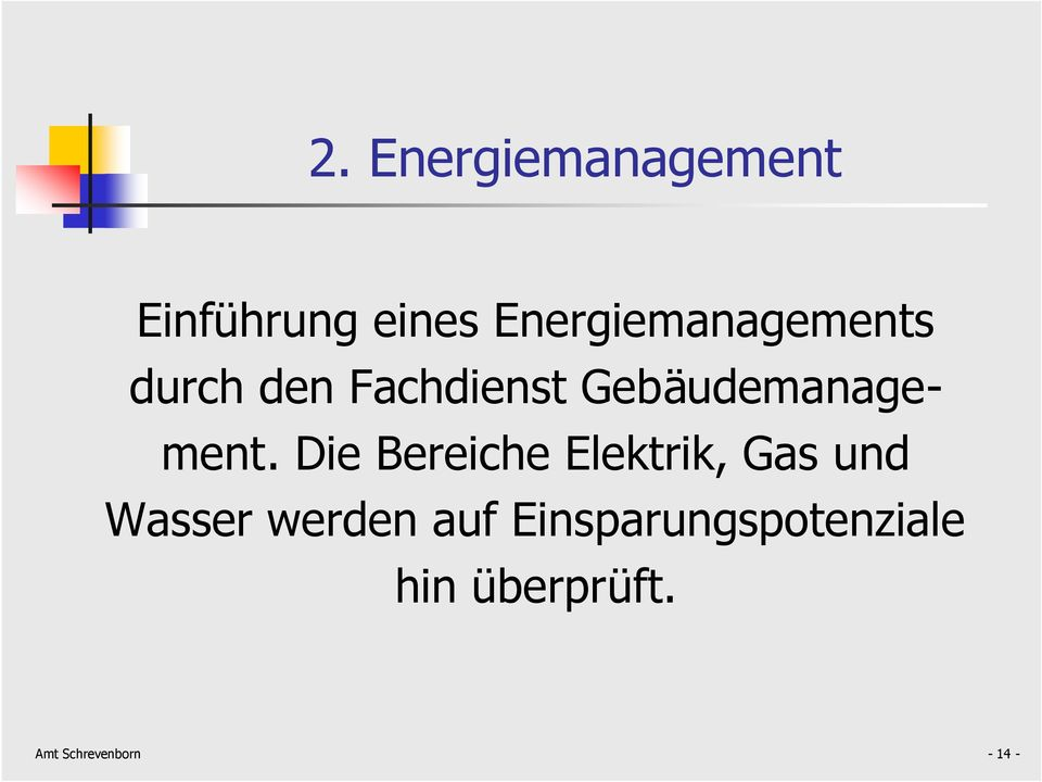 Gebäudemanagement.