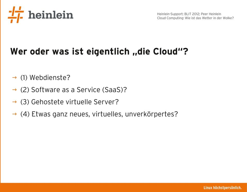 (2) Software as a Service (SaaS)?