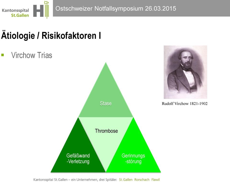 Virchow 1821-1902 Thrombose