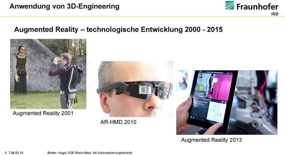 Reality 2001 AR-HMD 2010 Augmented Reality 2013 5