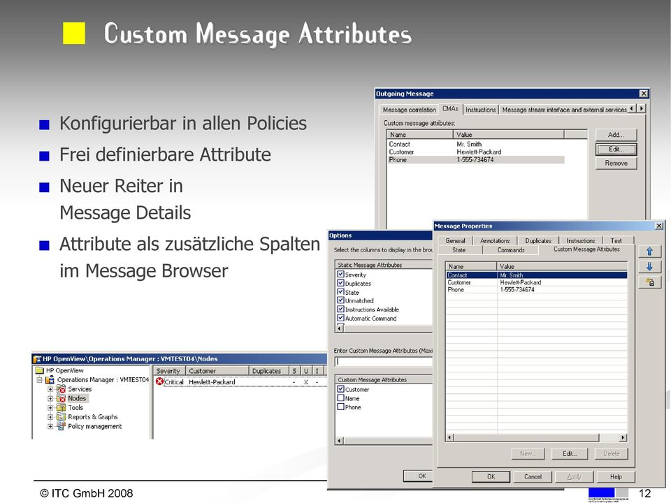 Neuer Reiter in Message Details Attribute als