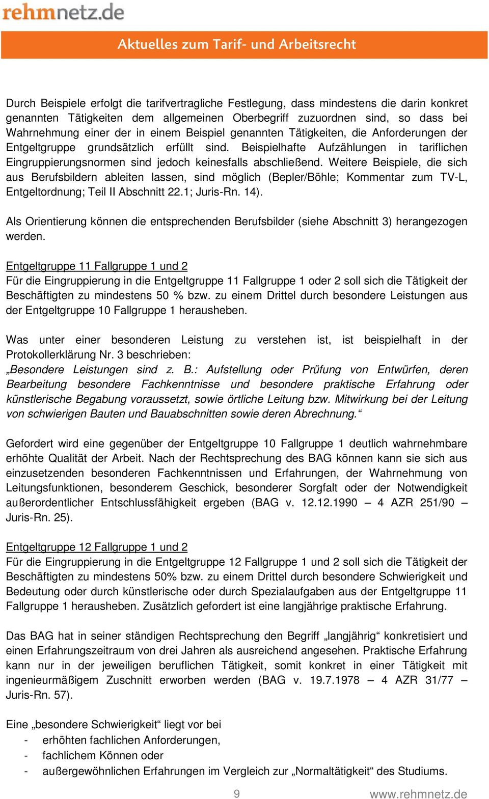 definition tvl entgeltgruppen