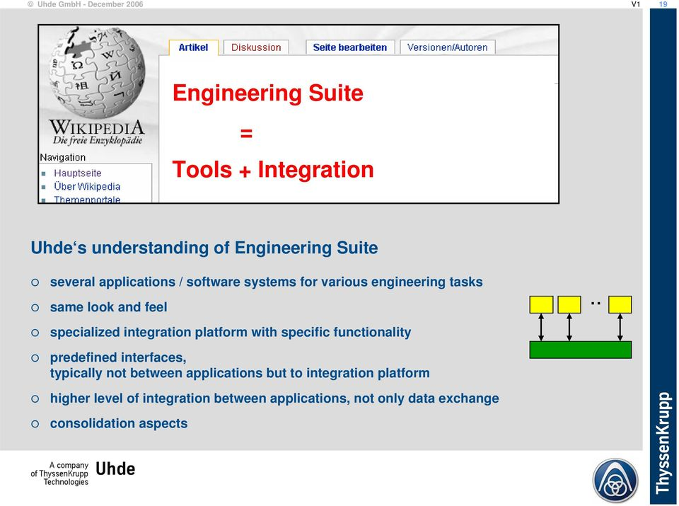 . specialized integration platform with specific functionality predefined interfaces, typically not