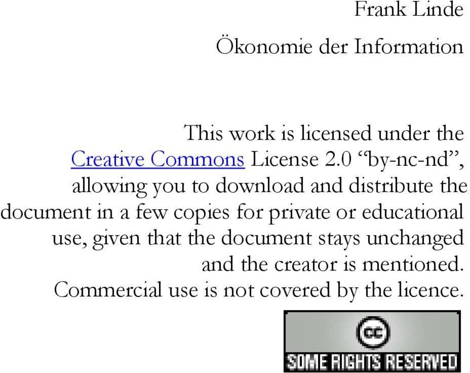 0 by-nc-nd, allowing you to download and distribute the document in a few copies