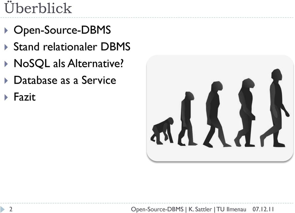 Stand relationaler DBMS!