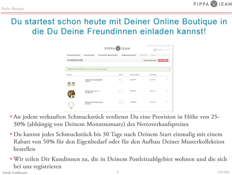 Online Boutique in die Du