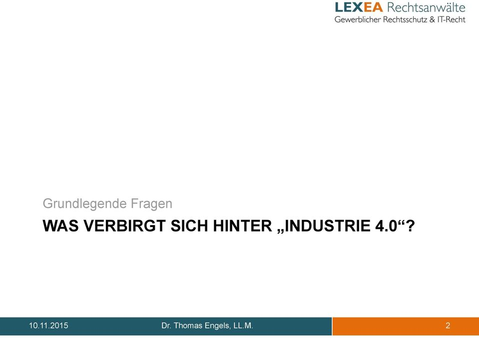 INDUSTRIE 4.0? 10.11.