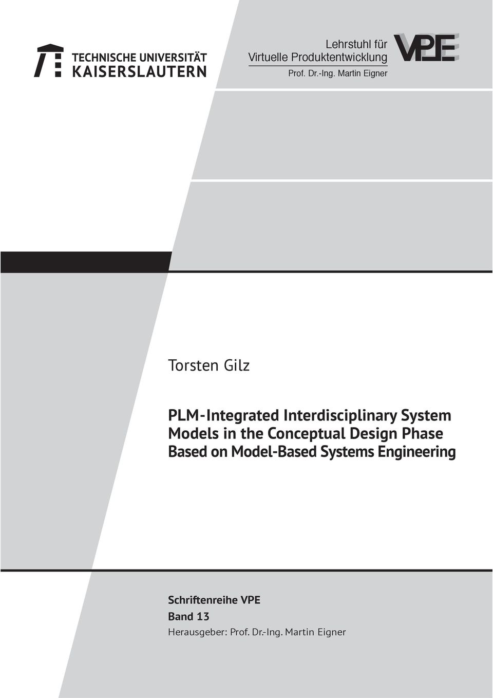 Models in the Conceptual Design Phase Based on Model-Based Systems