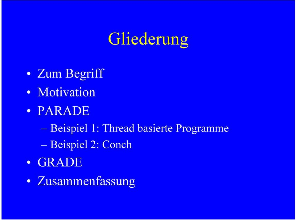 Thread basierte Programme