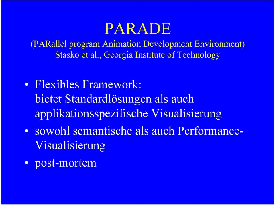 , Georgia Institute of Technology Flexibles Framework: bietet
