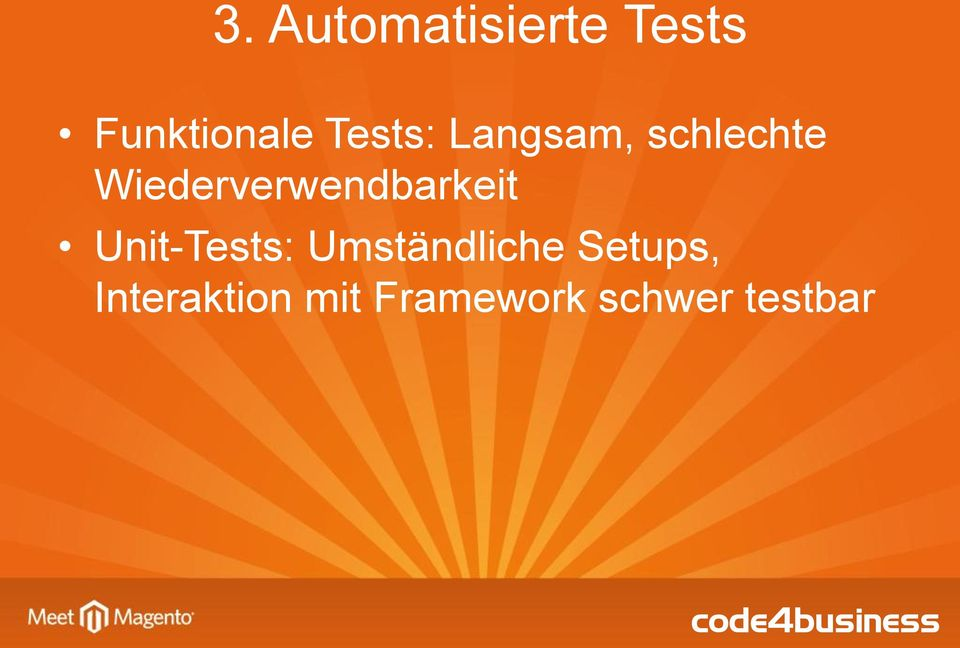 Wiederverwendbarkeit Unit-Tests:
