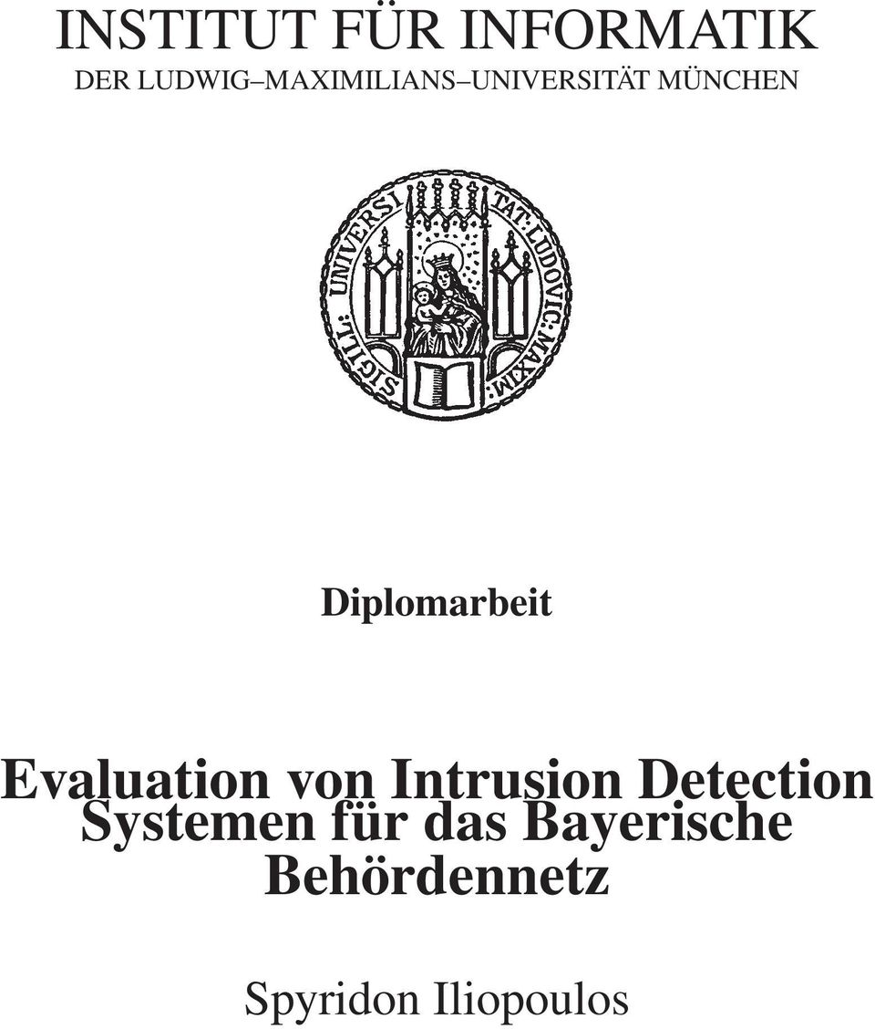 Diplomarbeit Evaluation von Intrusion
