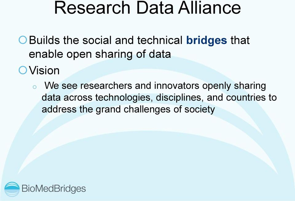 researchers and innovators openly sharing data across