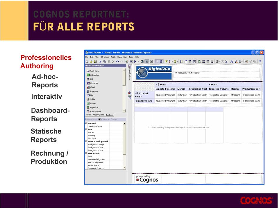 Reports Interaktiv Dashboard-