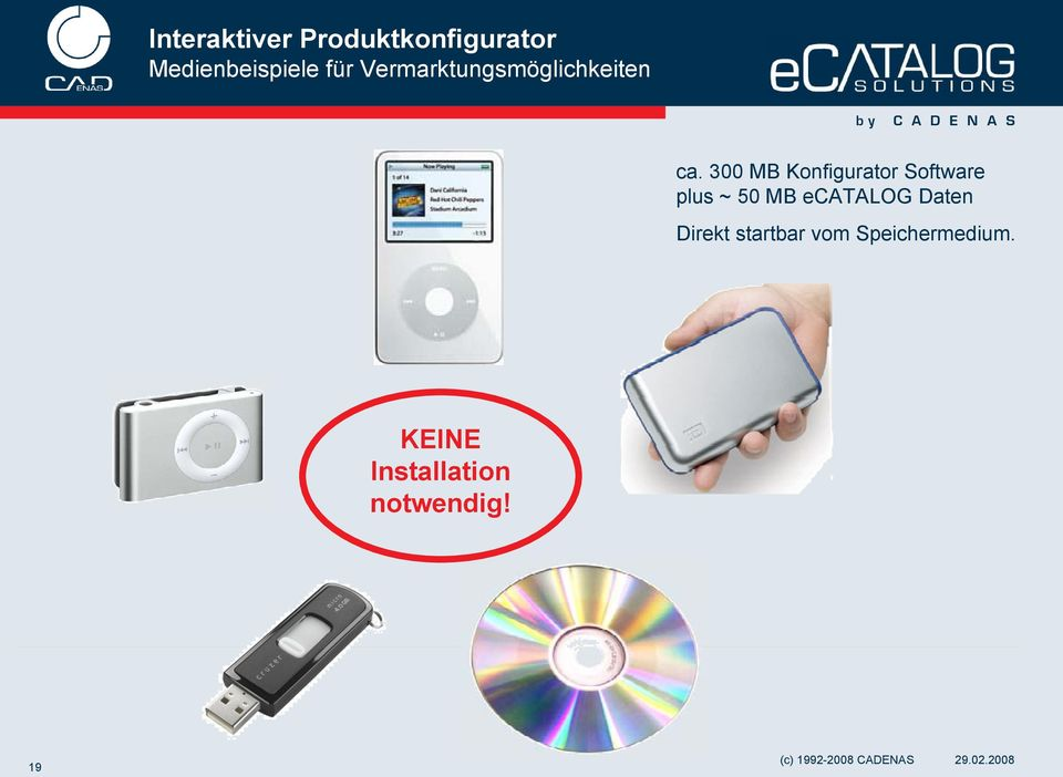 300 MB Konfigurator Software plus ~ 50 MB