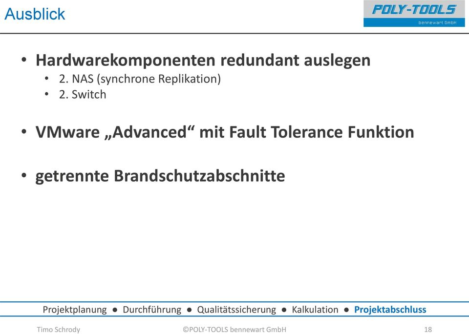 Switch VMware Advanced mit Fault Tolerance Funktion