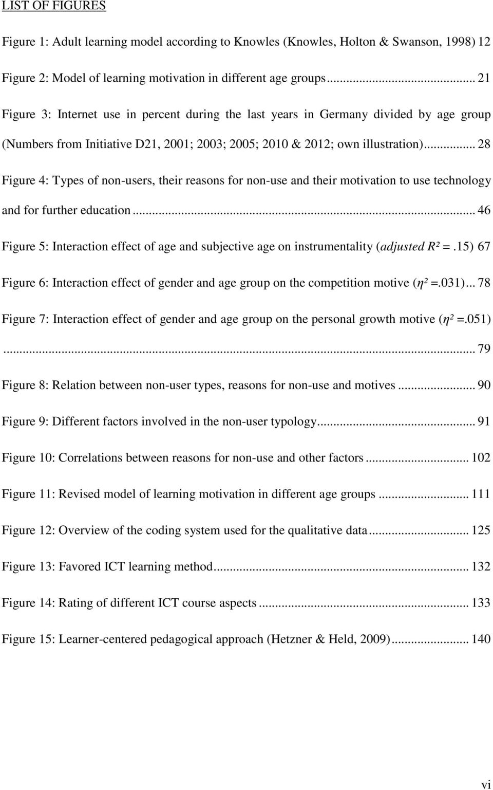 .. 28 Figure 4: Types of non-users, their reasons for non-use and their motivation to use technology and for further education.