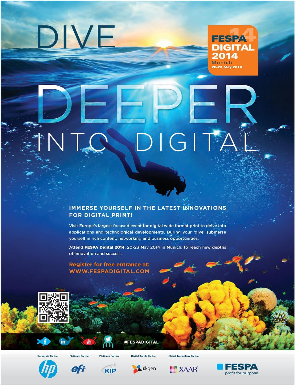 During your dive submerse yourself in rich content, networking and business opportunities.