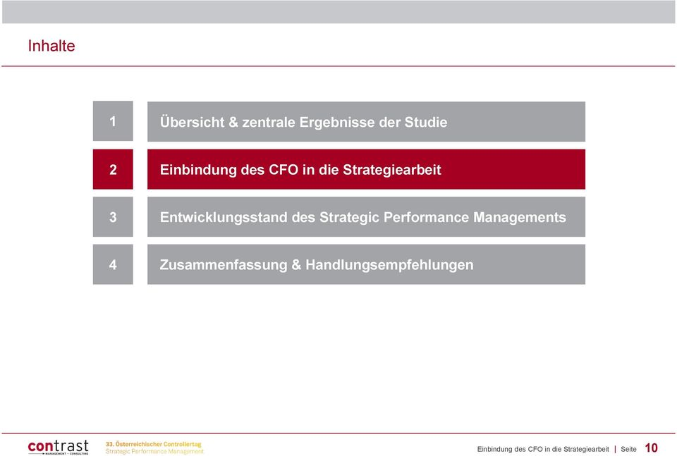 des Strategic Performance Managements 4 Zusammenfassung &