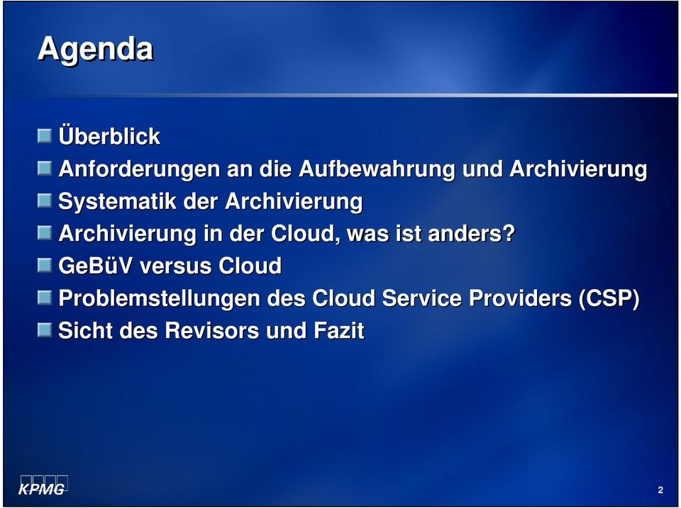 der Cloud, was ist anders?